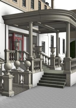 BIM-Ready 3D Revit Model of hotel