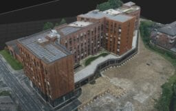 aerial drone survey of an apartment building in Sheffield