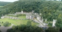 I'm a Celebrity Drone view Gwrych Castle