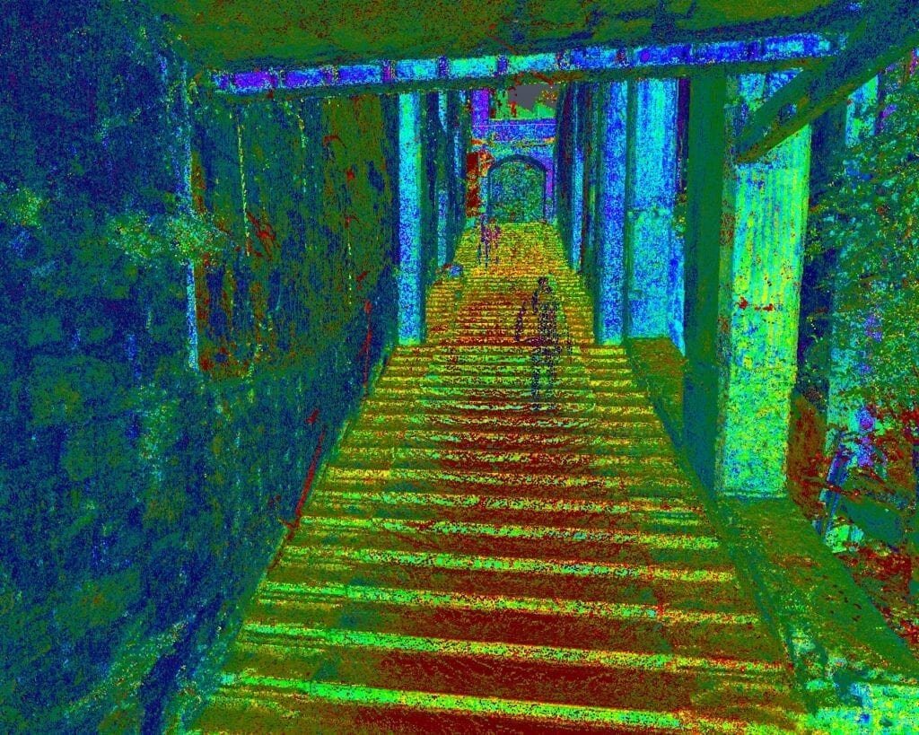 I'm a Celebrity Gwrych Castle - After the Task Staircase - Point Cloud