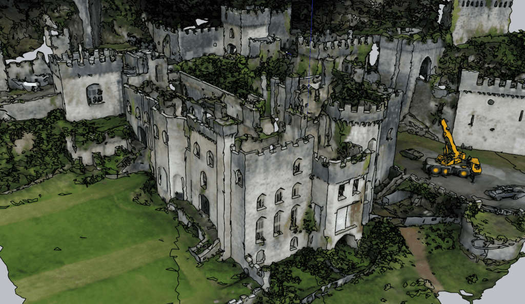 Gwrych Castle OBJ to Sketchup