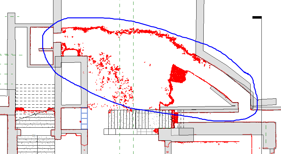 Gwrych Castle - Point Cloud to Revit Analysis
