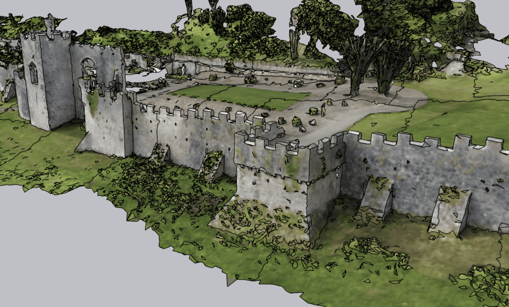 Gwrych Castle Rampart - Sketchup