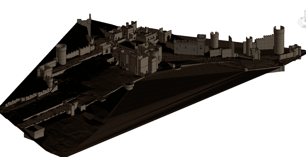 Gwrych Castle - Revit Model, Ready for Sketchup