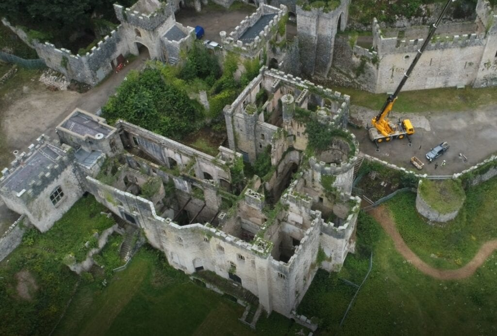 Gwrych Castle, view from above